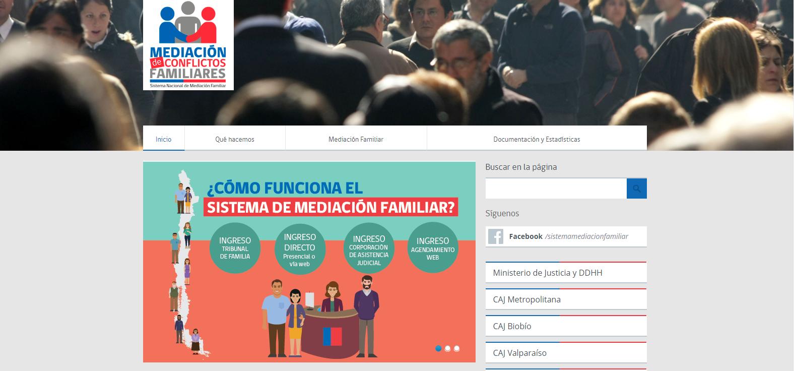 página web mediación familiar chile